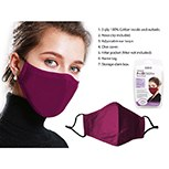 Mask Fabric Wine Red 3ply