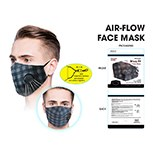 Masks Fabric Black/grey Check