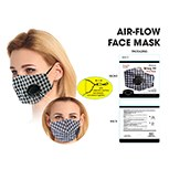 Masks Fabric Black/white Check