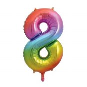 #8 34in Rainbow Supershape