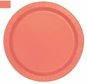 Coral Lunch Plates