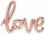 Love Rose Gold Air Balloon