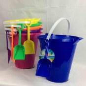 Plastic Pail With Shovel