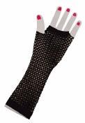 Fingerless Fishnet Gloves Blac