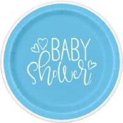 Baby Boy Blue Dessert Plates