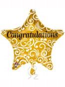 Congrats Gold Star18 Inch Foil
