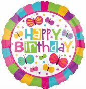 Birthday Butterfly Balloon