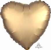 Heart Foil Satin Luxe Gold