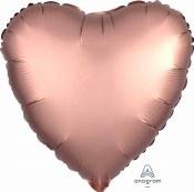 Heart Foil Satin Luxe Rose