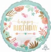 Birthday Boho Foil Balloon