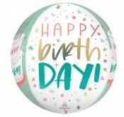 Birthday Cake Orbz Balloon