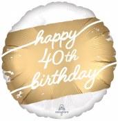 40th Golden Birthday Foil