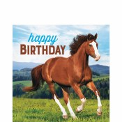 Horses Lunch Birthday Napkins