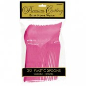 Hot Pink Plastic Spoons
