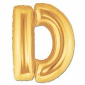 Letter D 40in Gold Foil