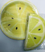 Lemon Napkins & Plates Set