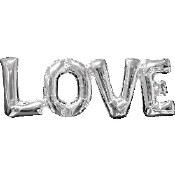 Love Silver Air Filled Balloon