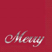 Merry Red Beverage Napkins
