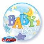 Baby Boy Over Moon Bubble
