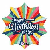 Birthday Burst Foil Balloon