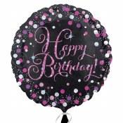 Happy Birthday Pink Foil