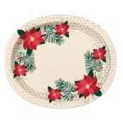 Poinsetta Oval Dinner Plates