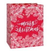 Christmas Red/white Gift Bag