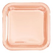 Rose Gold Square Plates