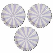 Stripe Lavender Lunch Plates