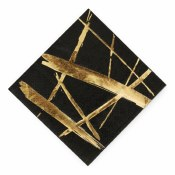 Black/gold Striped Napkins