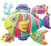 Tropical Fish Cluster Foil