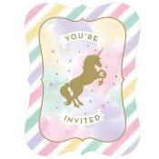 Unicorn Sparkle Invites