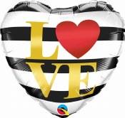Love Heart Stripe Foil