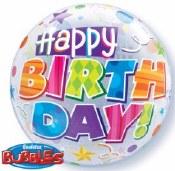 Happy Bday Bubble Balloon