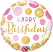 Birthday Dots Foil Balloon