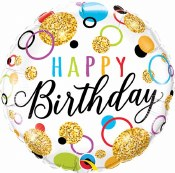 Birthday Glitter Foil Balloon