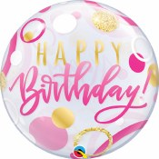 Pink Birthday Bubble Balloon