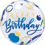 Blue Birthday Bubble Balloon