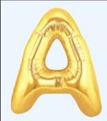 Letter A 40in Gold Foil