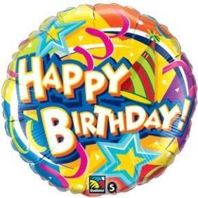 Hat & Star Birthday Balloon
