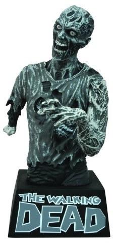 Walking Dead Bust Bank Zombie B&W