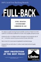 Full Backs Standard (Order In 50) (Net)