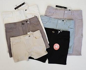 Crew Cotton Shorts-White-2-