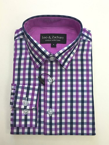 Leo & Zachary Boys Print Shirts