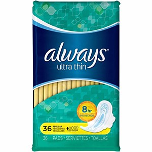 Always Ultra thin 36 Pads