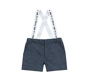 Baby Boys Speckled Denim Rompe