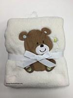 Baby Cuddly Ivory Blanket