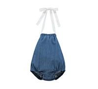 Baby Girl Blue Denim Ruffle Ro