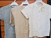 Boys Dress Shirt-Beige-18 Mont