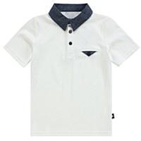 Boys Speckled Denim Polo-10--
